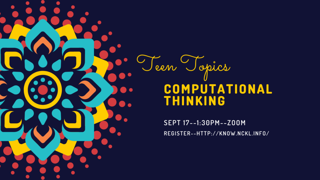 Puzzles, Patterns and Problem Solving: Helping Teens Build Computational Thinking Skills